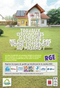 Pour obtenir vos aides financières, choisissez un professionnel RGE (Reconnu Garant de l'Environnement).