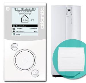 En plus de la programmation de votre chauffage électrique, la technologie io-homecontrol permet la relance forcée de votre production d'eau chaude sanitaire de votre ballon à accumulation électrique.